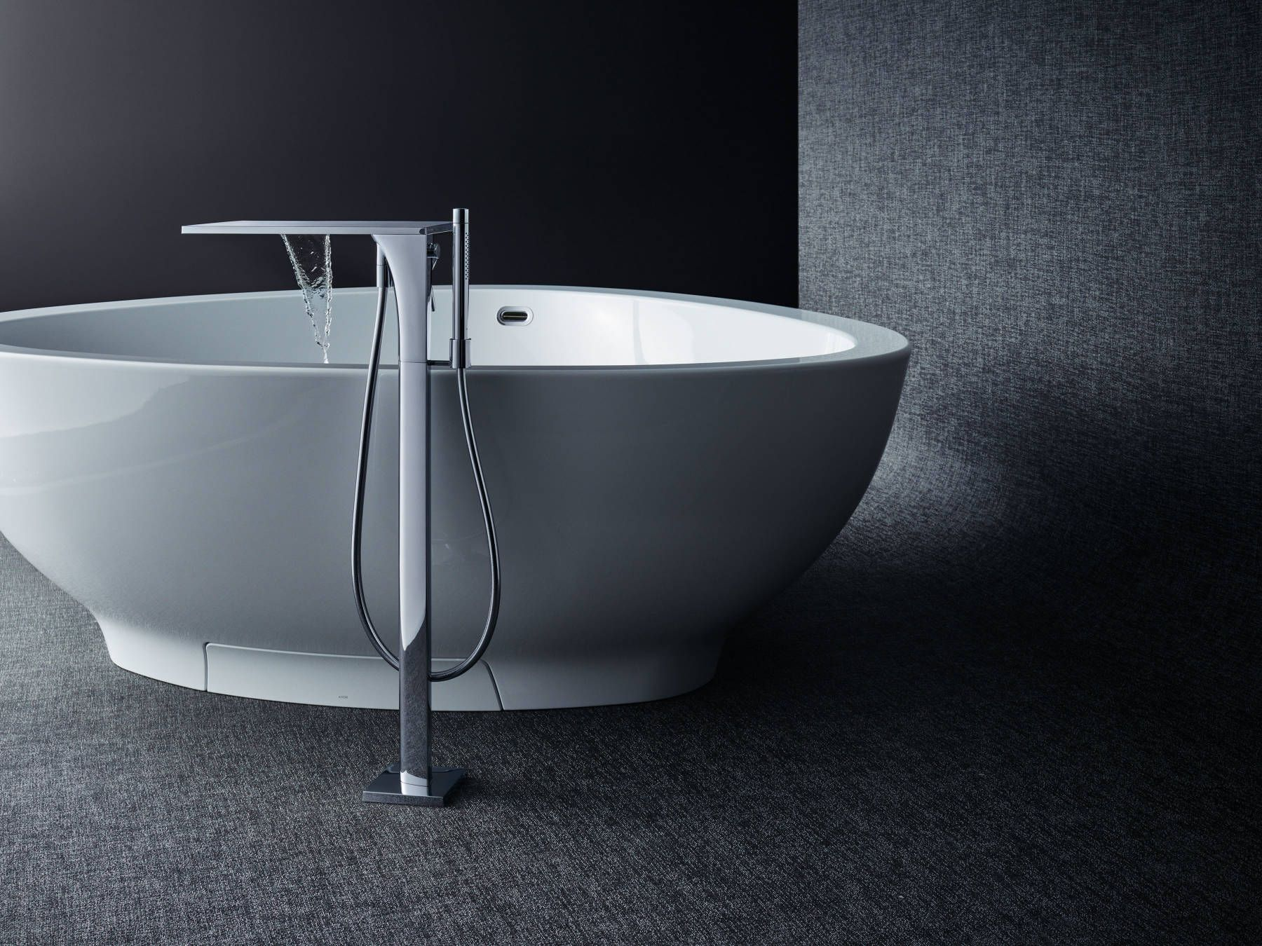 Axor Massaud Bath Tub Organic Design Inspired By Nature Like A Lake The Free Standing Bath Tub Is An Oasis Of Calm In T Badezimmer Design Design Waschtisch