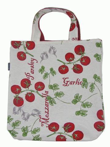 Mulepose Model Hanne - Tomater, Hvidløg og Persille - Hvid/Rød - byLIS