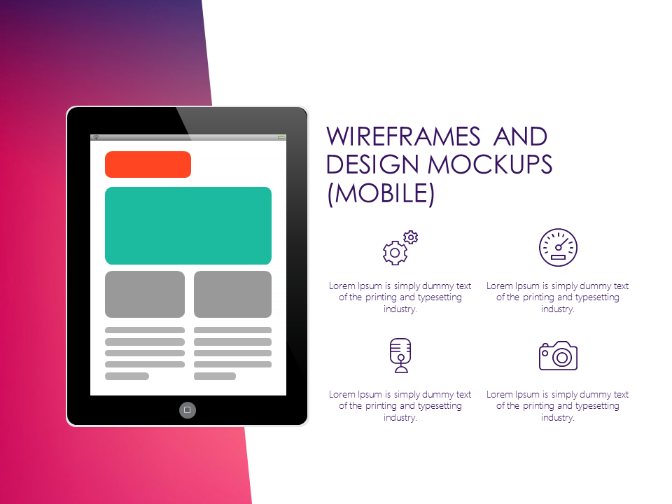 ux design powerpoint template #technology #mockups, Presentation templates