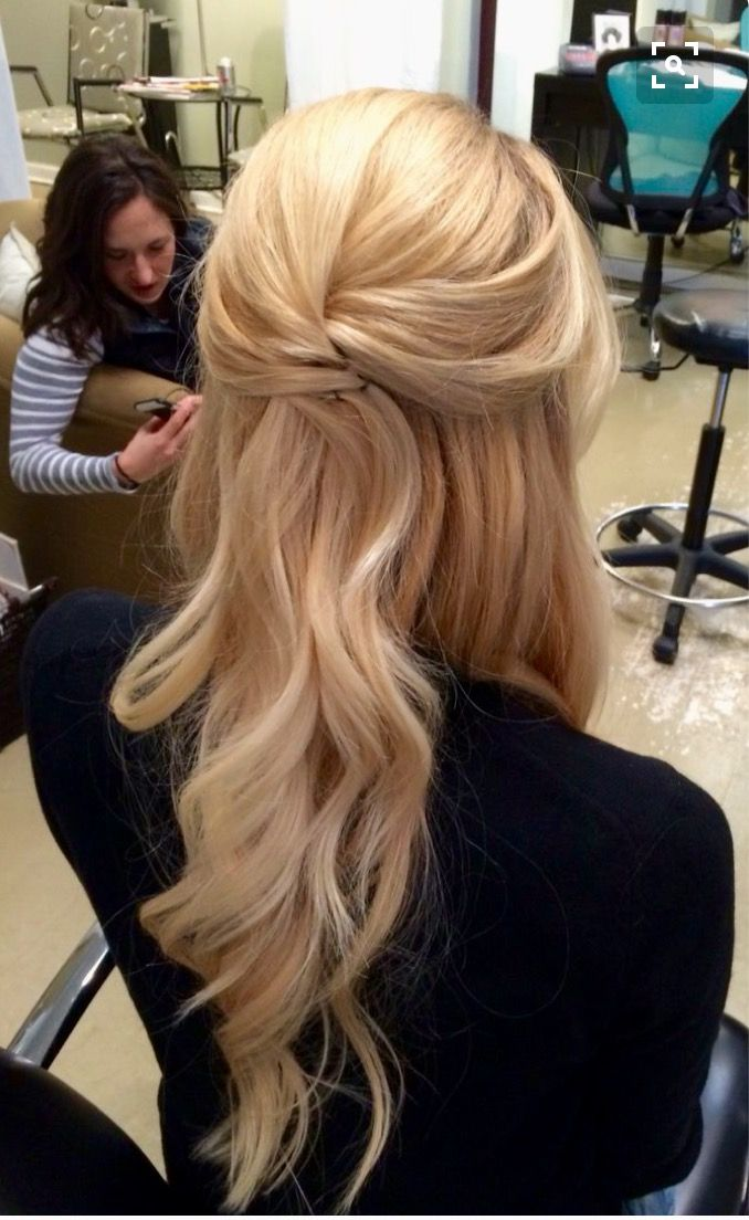Classy 1 2 Up Style Down Hairstyles For Long Hair Down