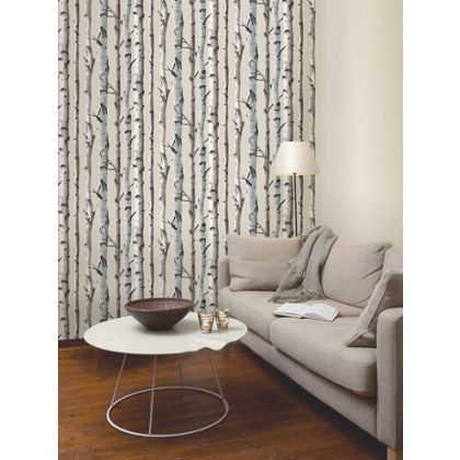 Fine decor birch tree wallpaper natural at homebase for Wallpaper homebase