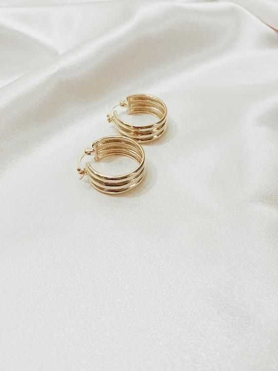 Gold Filled Hoops – Chunky Gold Hoops – Very Thick Gold Hoop Earrings – Medium Hoop Earrings – Chunk