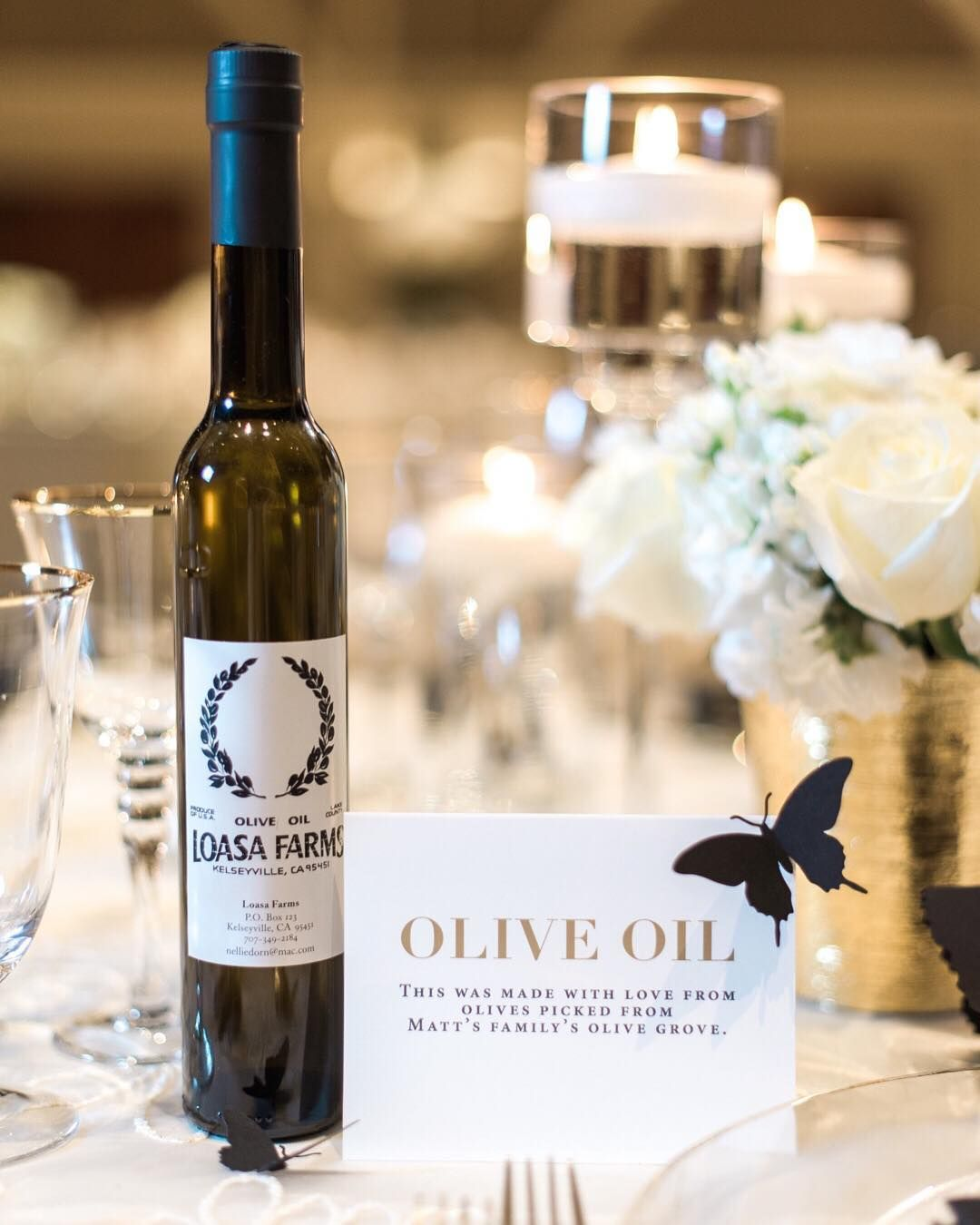 The Bride And Groom Gifted Artisan Olive Oil To Ever Guest