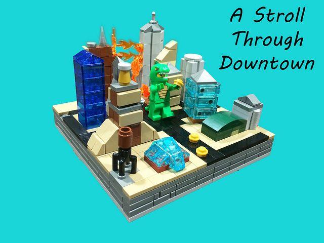 Lego Mocs Micro ~ A Stroll Through Downtown | by samiam391