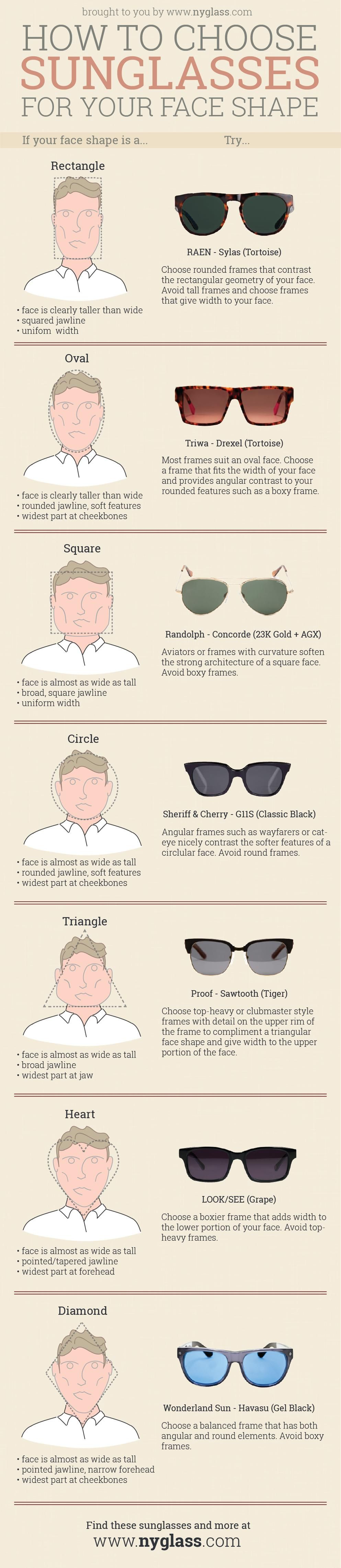 Mens sunglasses large head - How To Choose Sunglasses For Your Face Shape Guide For Both Men And Women
