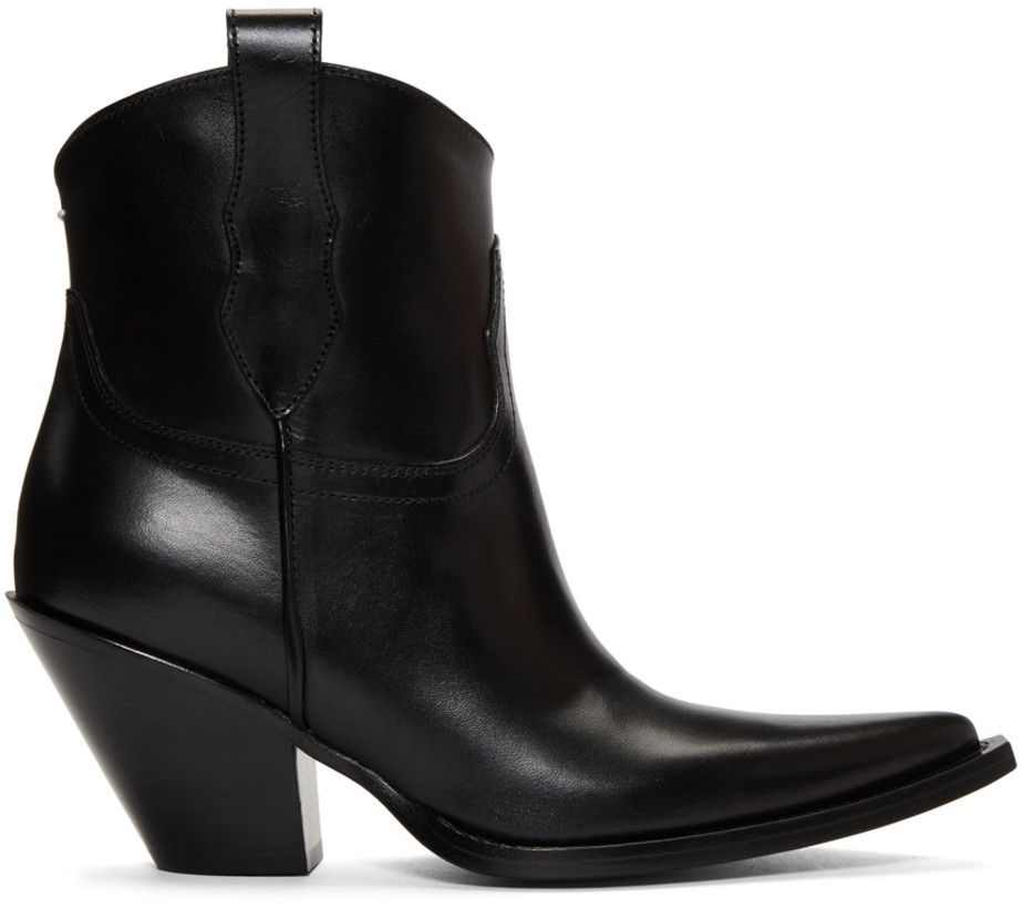 a496603aa6b Maison Margiela Black Low Mexas Boots | Shoes | Boots, Leather boots ...