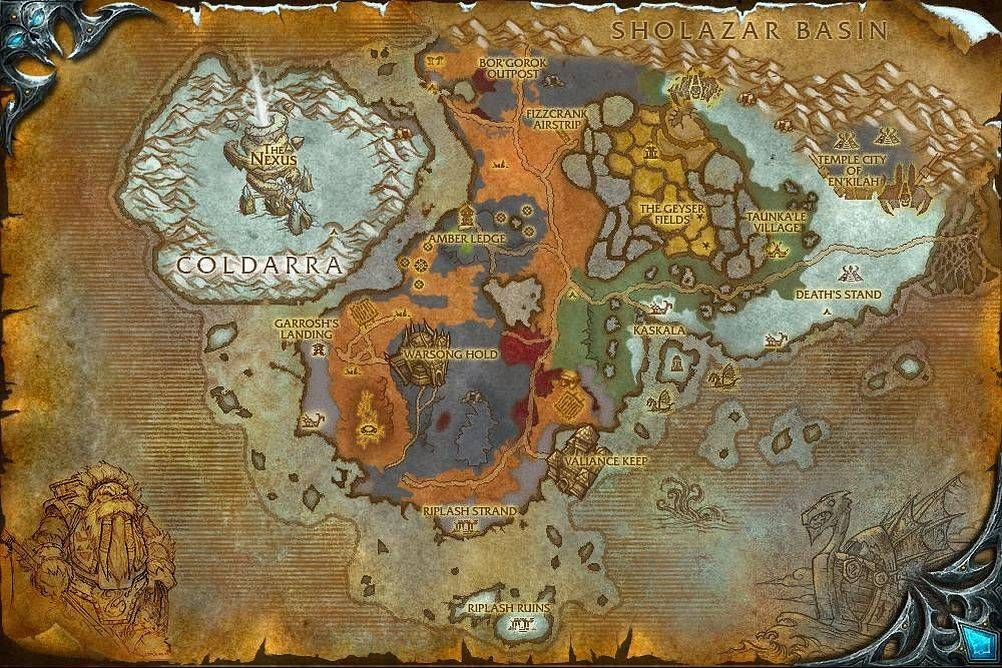 Borean Tundra Map with Locations, NPCs and Quests World