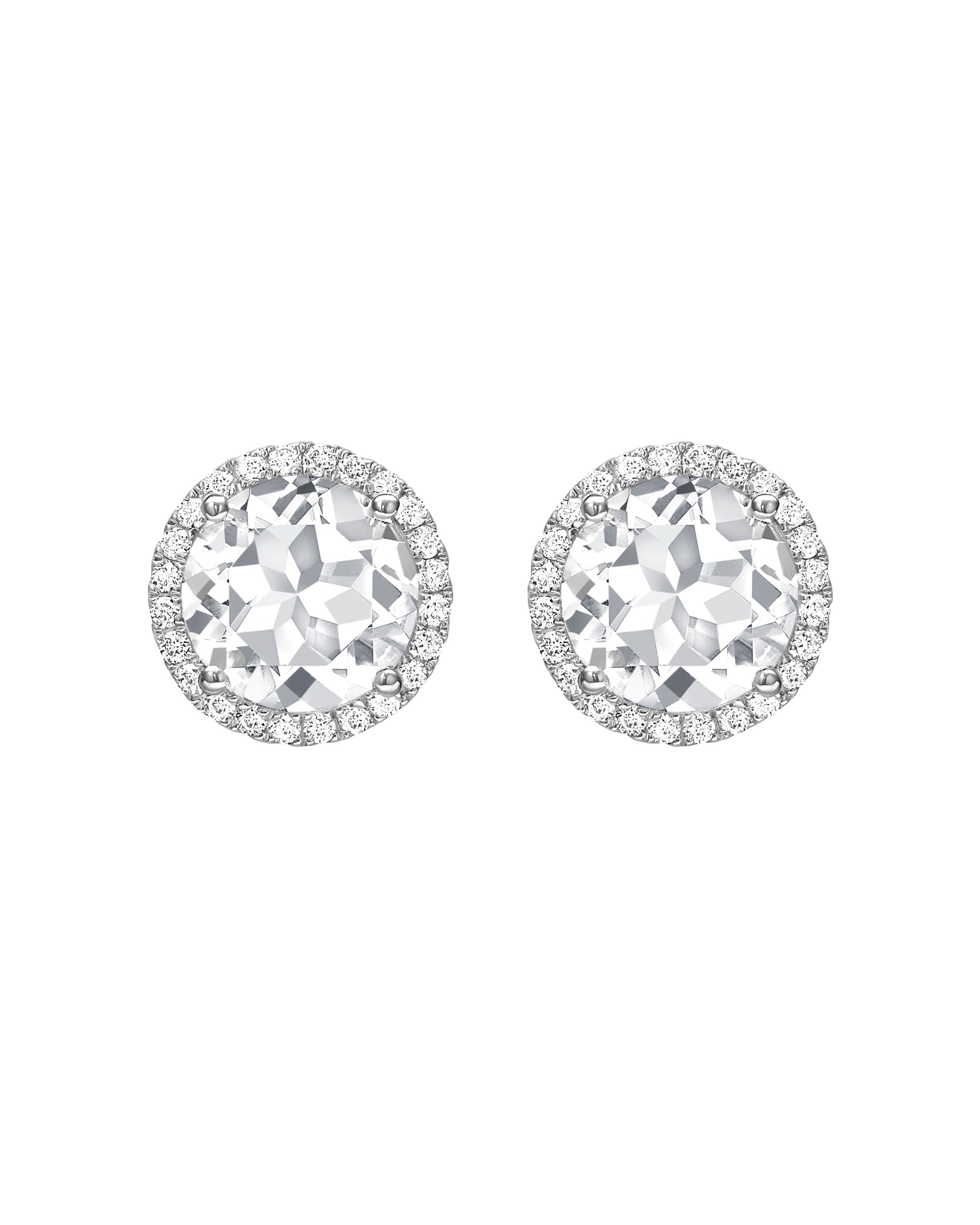 a90201a76 Grace White Topaz and Diamond Stud Earrings in White Gold | Jewelry ...