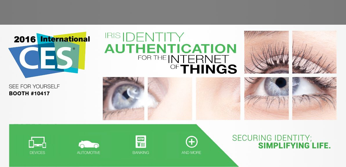 #IoT EyeLock Showcases Iris Authentication Solutions For The Internet Of Things @ CES 2016