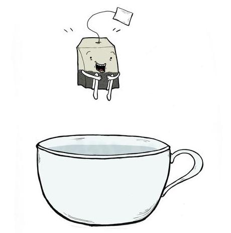 Jumping Tea Bag Happy Tea Tea Art Tea