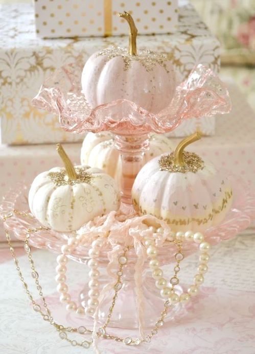 ♥ Pink and Gold #pinkpumpkins