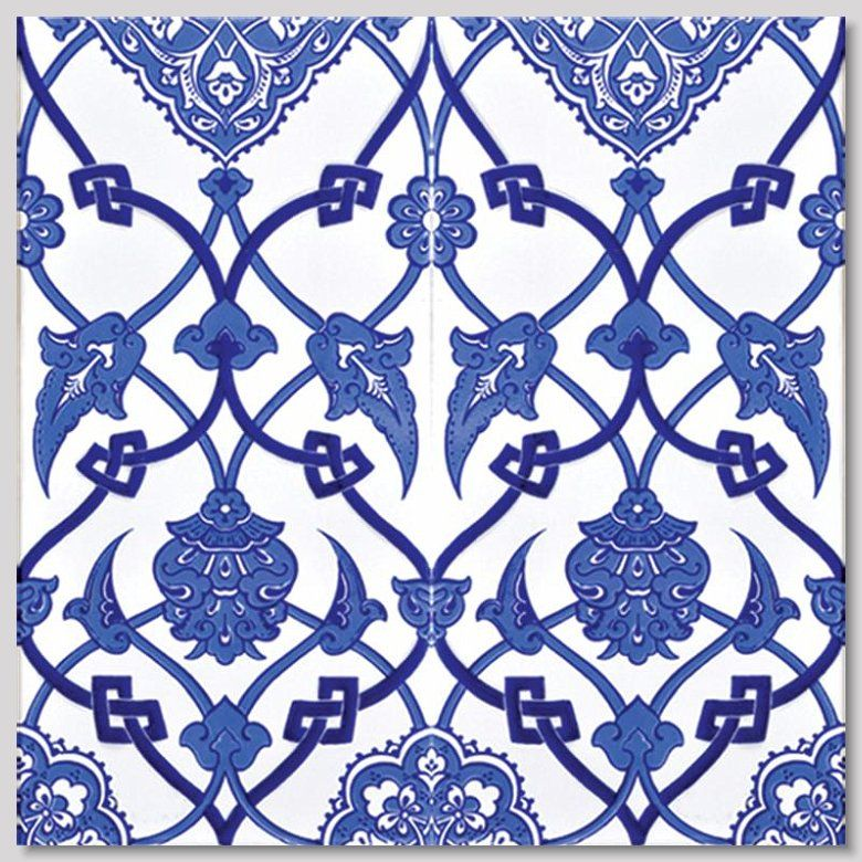 Blue color pattern work