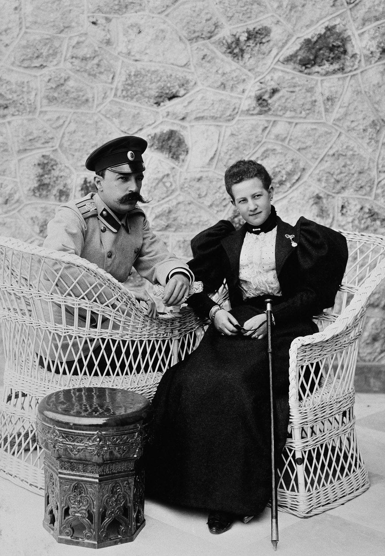 TT II HH GRAND DUKE GEORGE MIKHAILOVICH ROMANOV AND GRAND DUCHESS MARIA GEORGIEVNA (BORN PRINCESS OF GREECE AND DENMARK)
