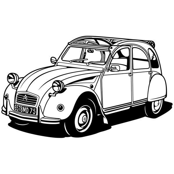 Vinilos Decorativos: Citroën 2CV | graphigs | Pinterest | Cars, Car ...