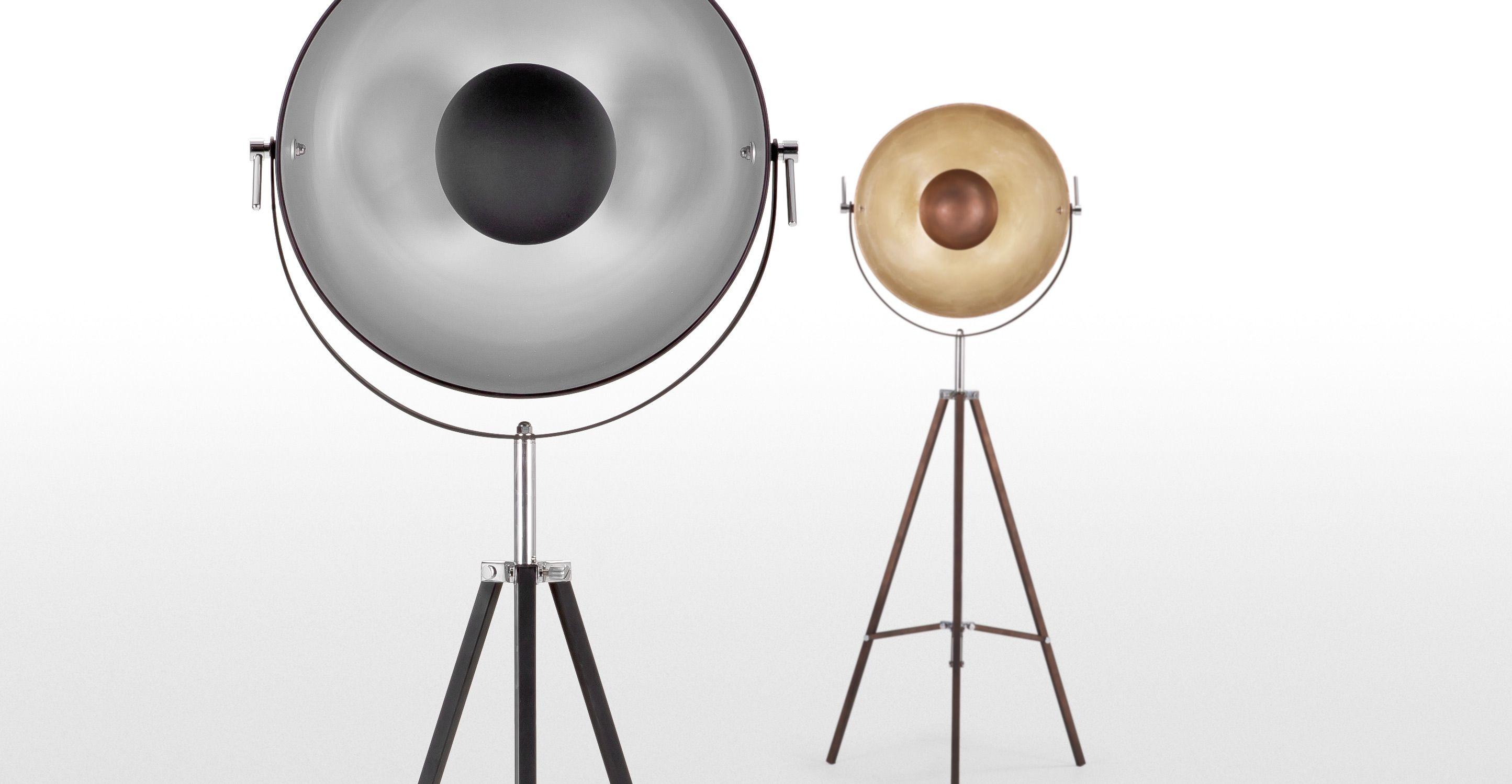 Staande Lampen Industrieel : Chicago staande lamp in zwart en zilverkleur made.com the house