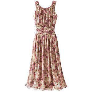 Floral Chiffon Dresses for Women | shop clothing dresses day dresses women s shirred floral chiffon dress ...