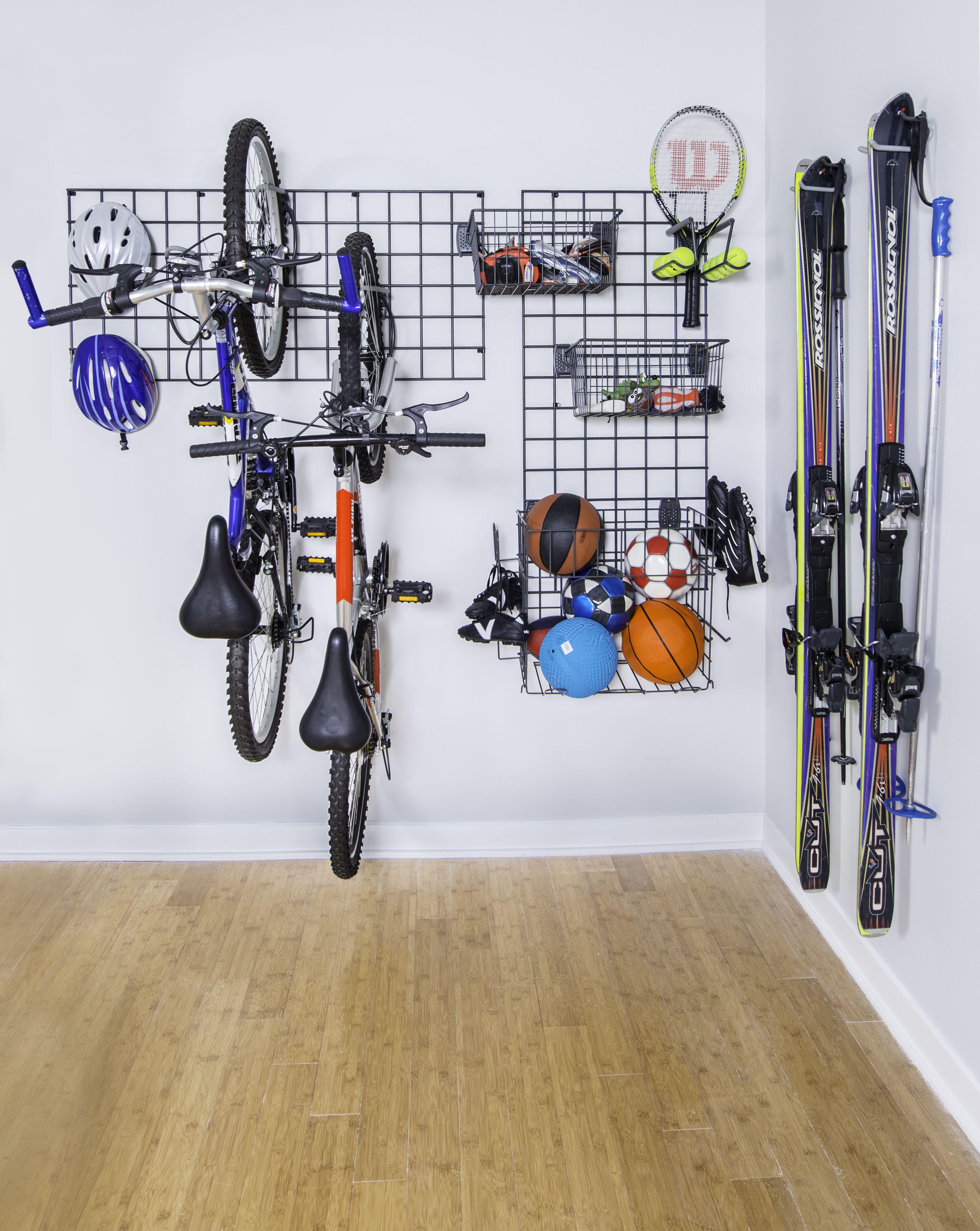 Garage Storage For Organizing Sports Equipment And Gardening Tools Kids Sports Room Sports Storage Garage Organization