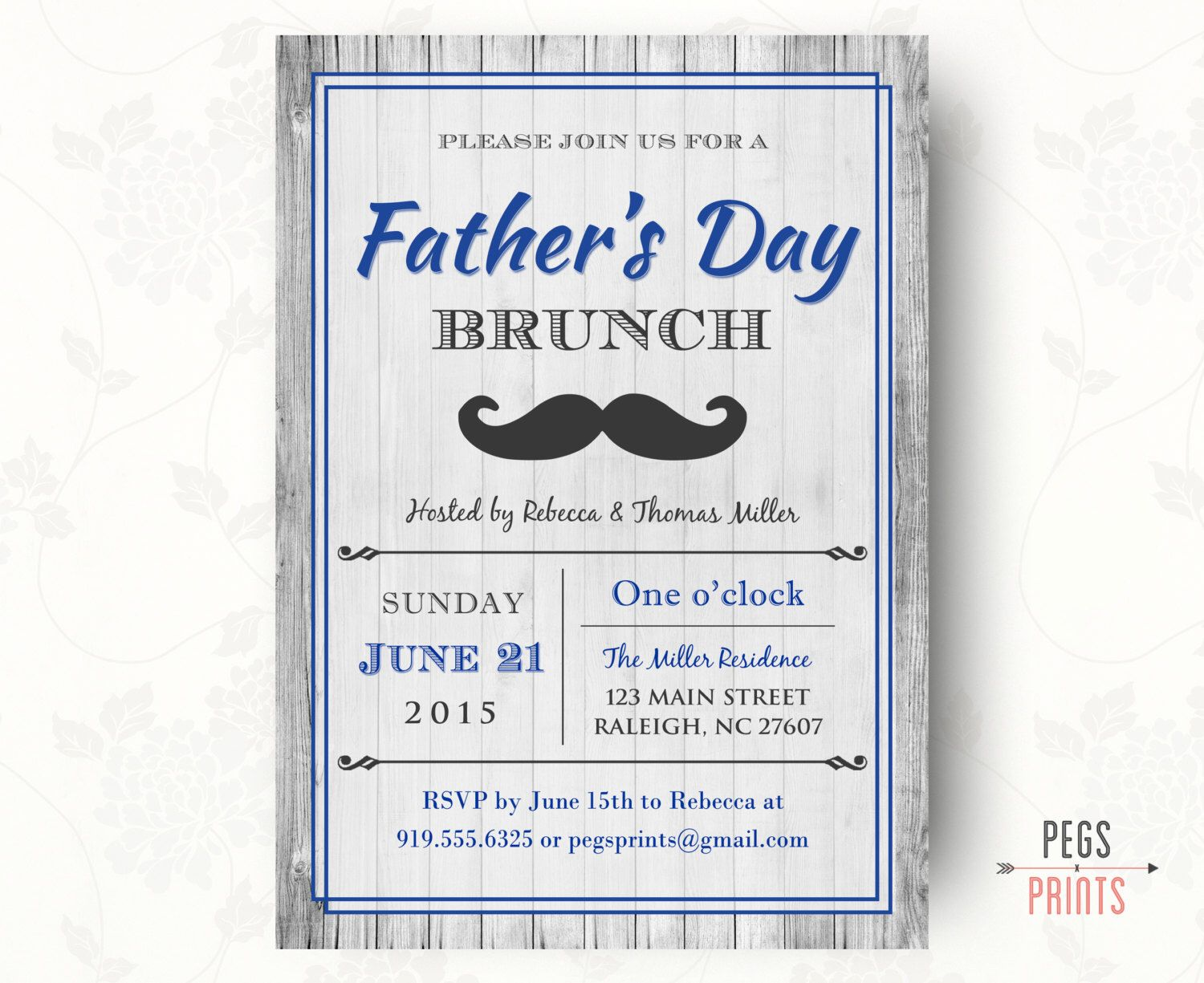 Fathers Day Invitation Printable Fathers Day Brunch Invitation Rustic Invitation Diy Printable Fathers Day Brunch Fathers Day Spa Birthday Party Invitations