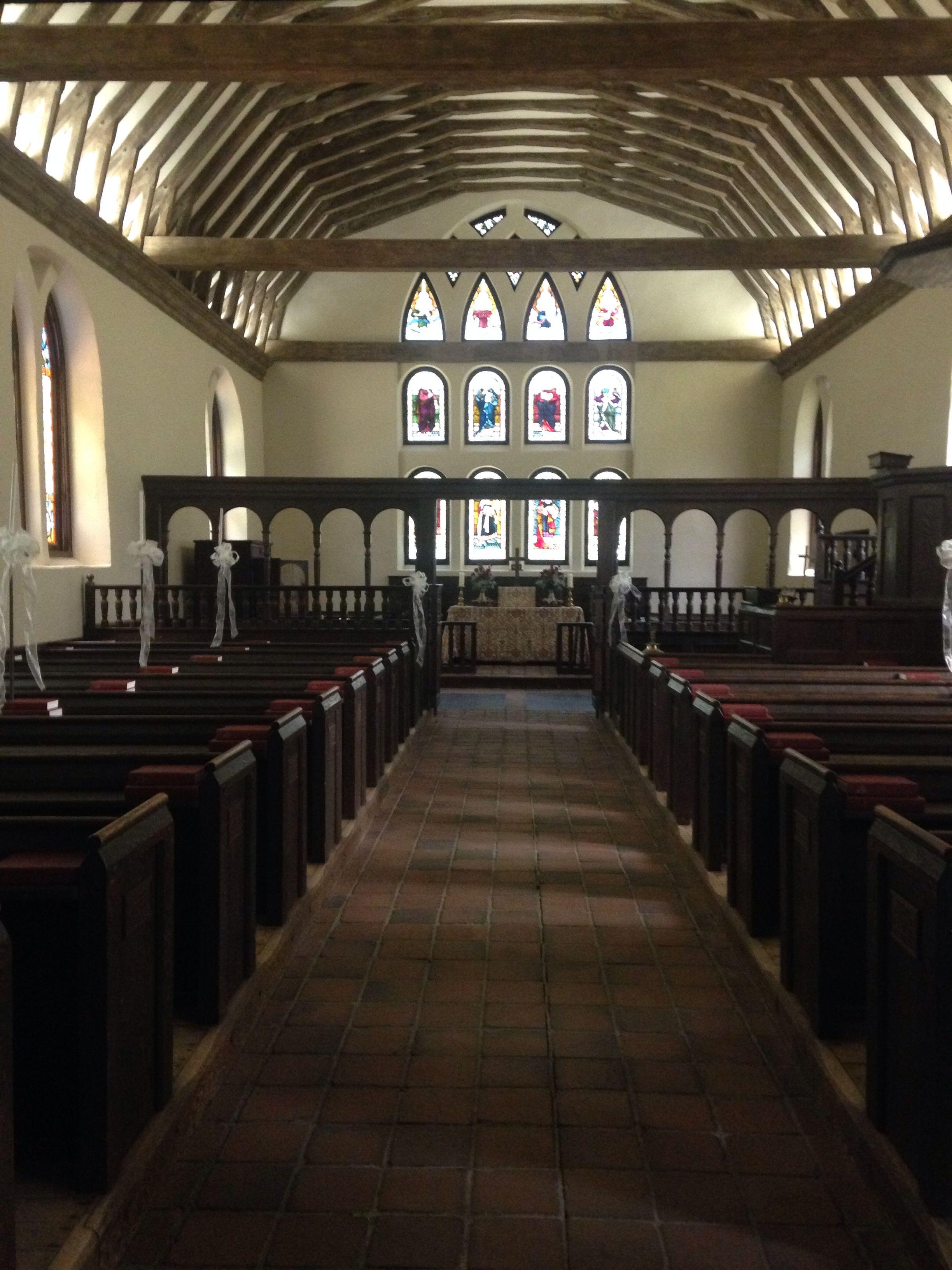 Inside St. Luke's Church in Smithfield ,VA Cathedral
