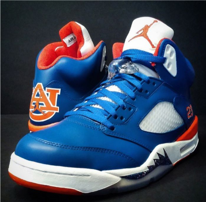 c27ab4b17eb1f Air Jordan 5 Auburn Tigers Custom