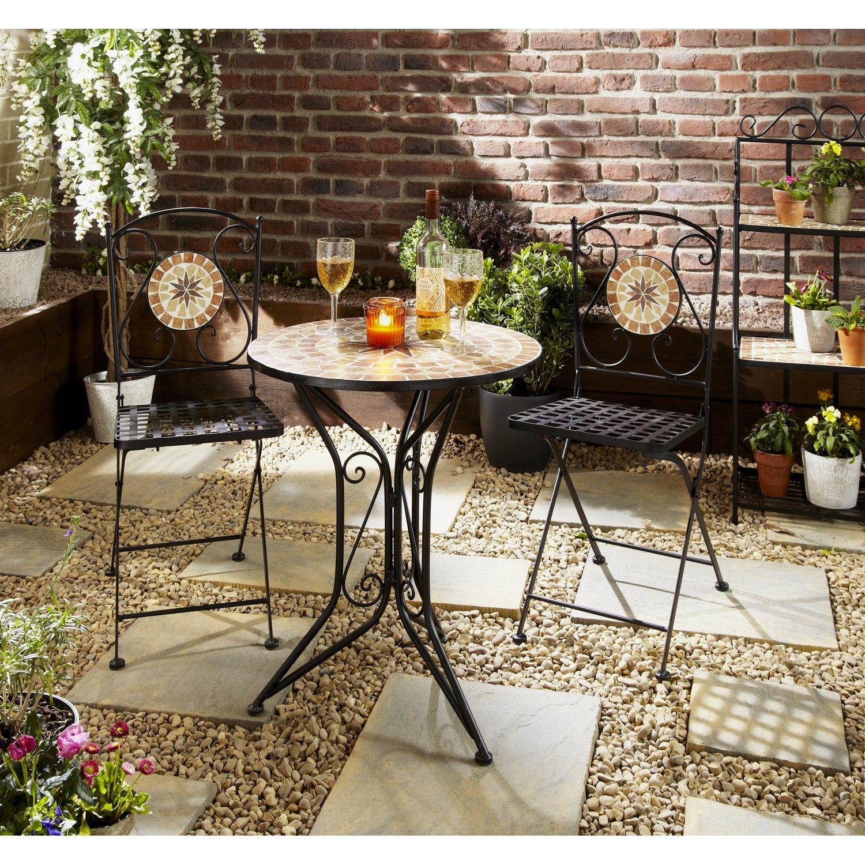 Old Fashioned Garden Furniture Bistro Set Festooning - Brown Nature ...