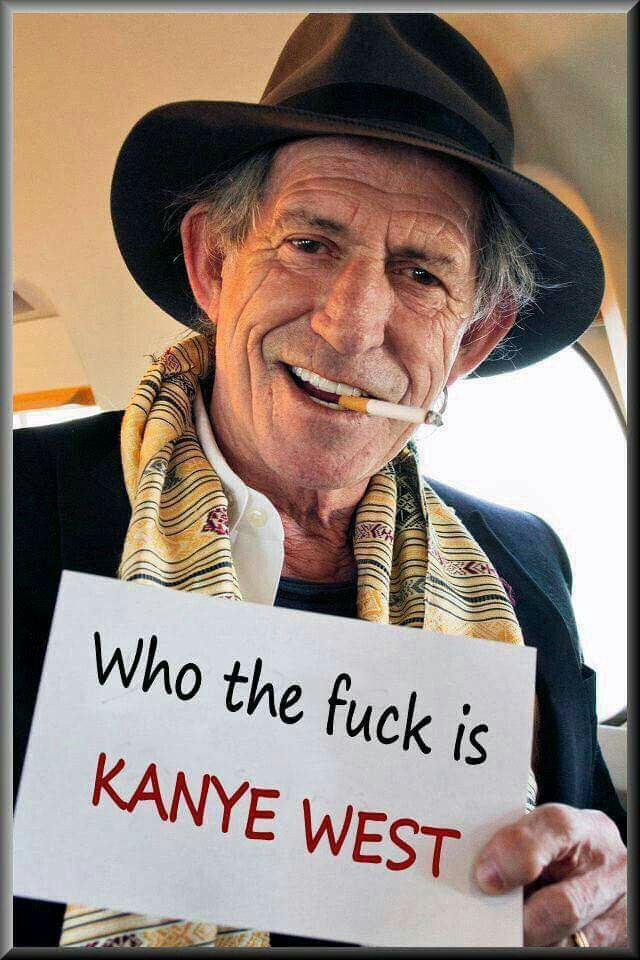 Image result for keith richards asks who's kanye west graphics