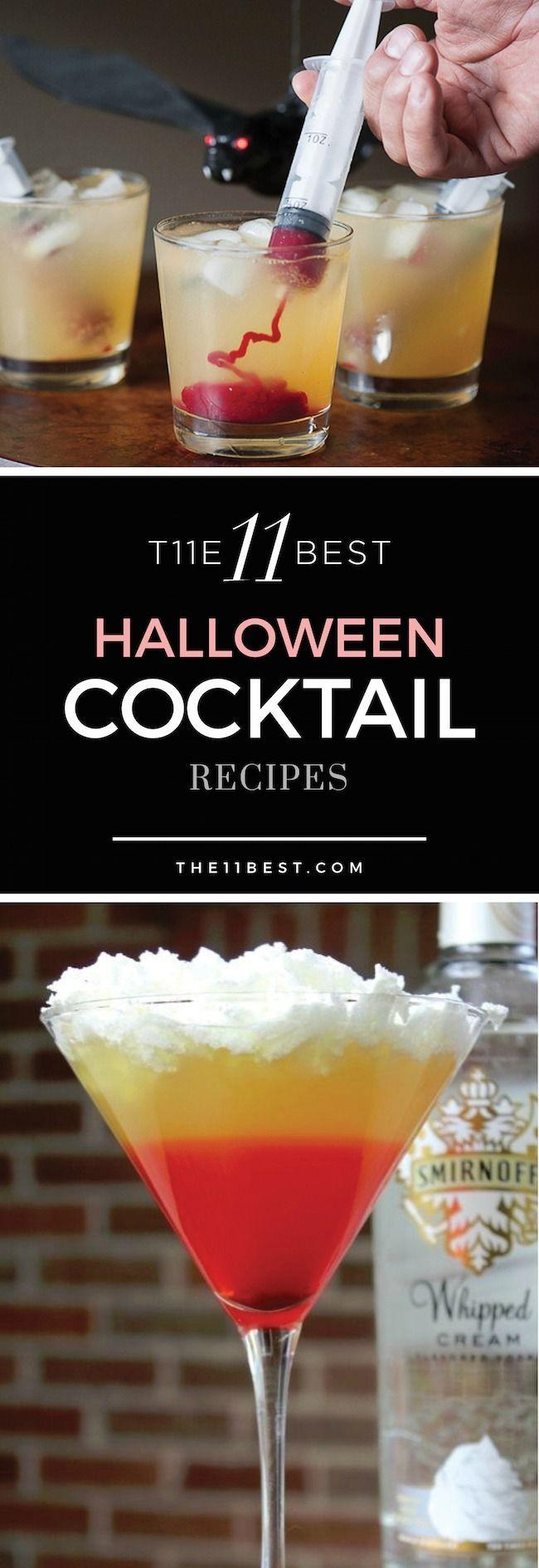 The 11 Best Halloween Cocktail Recipe Ideas - | Pinterest ...
