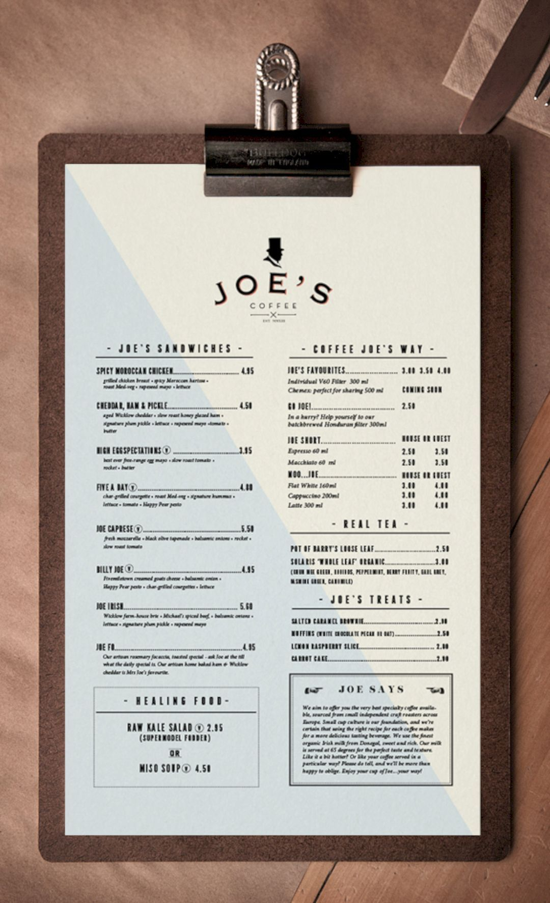 fresh ideas of menu design for café | beautifully-designed products