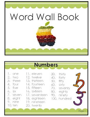 2nd and 1st Grade Smarty-Arties taught by the Groovy Grandma!: Portable Word Wall