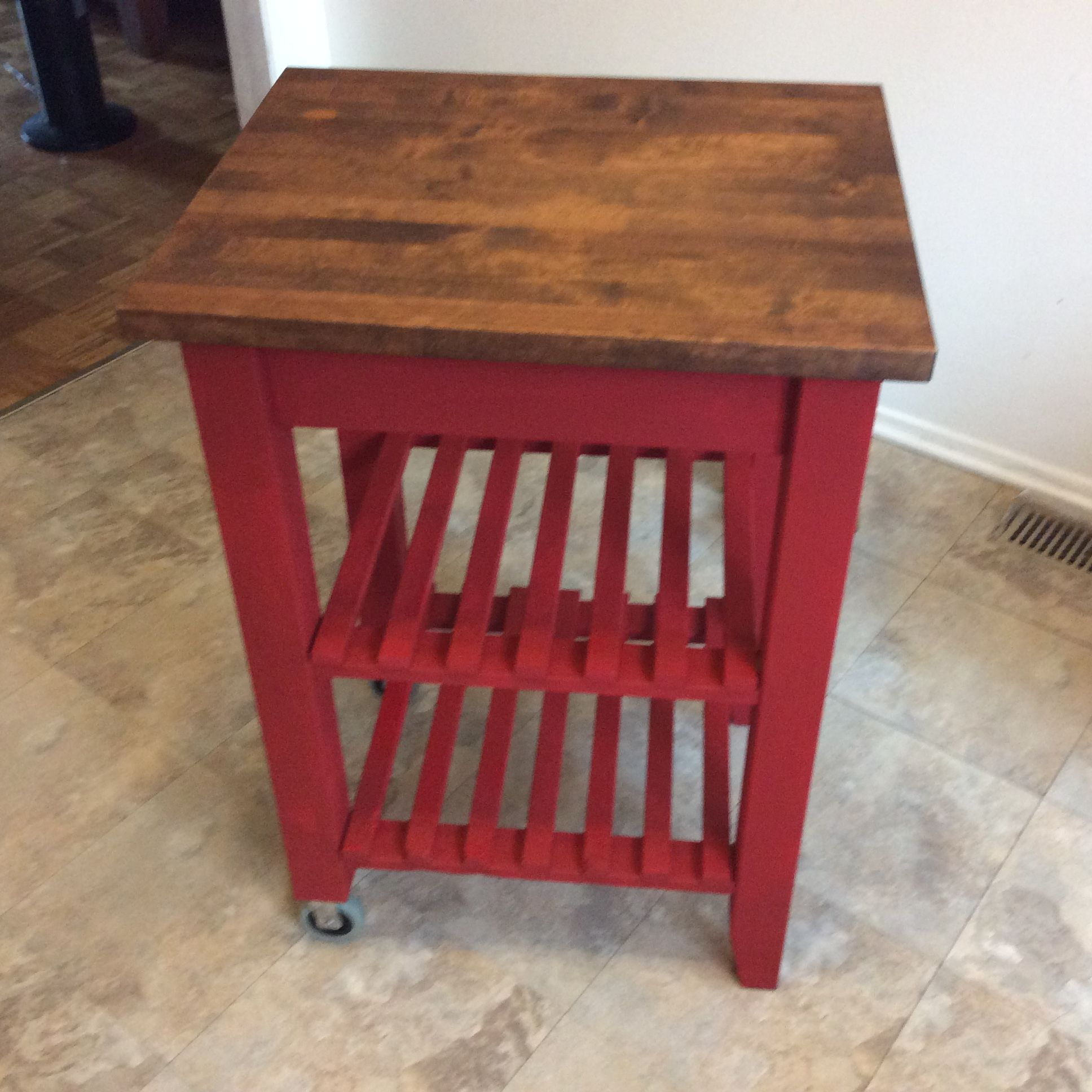 AFTERSecond hand purchase, wooden butchers block/kitchen