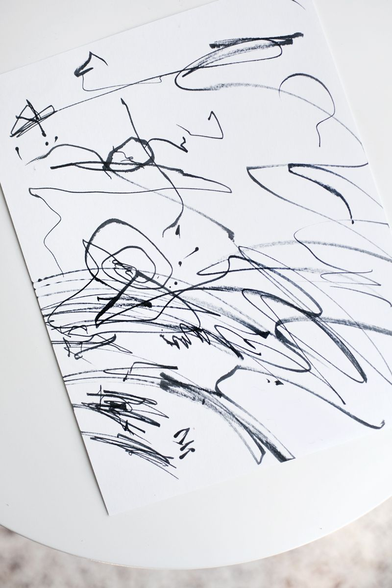 Try This Transform Kiddo Scribbles Into Modern Art Art