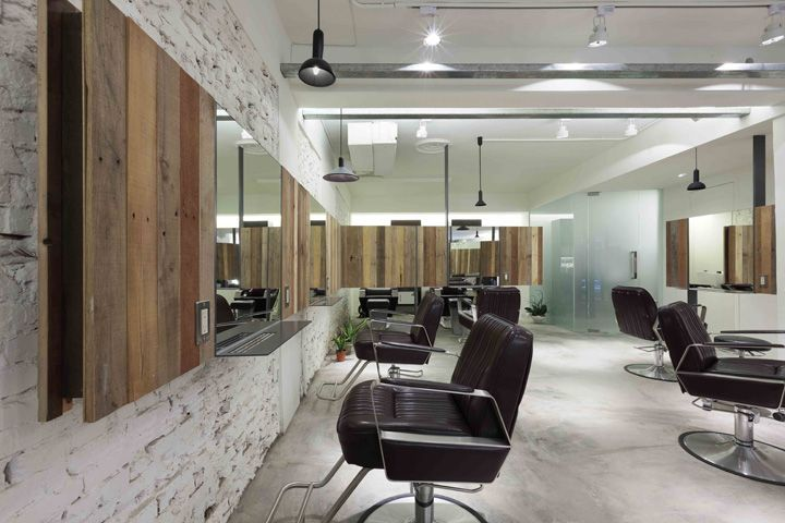 Essential Hair Salon By KC Design Studio Taipei The Concept Was To Create A Vivid And Natural Environment With Industrial Style
