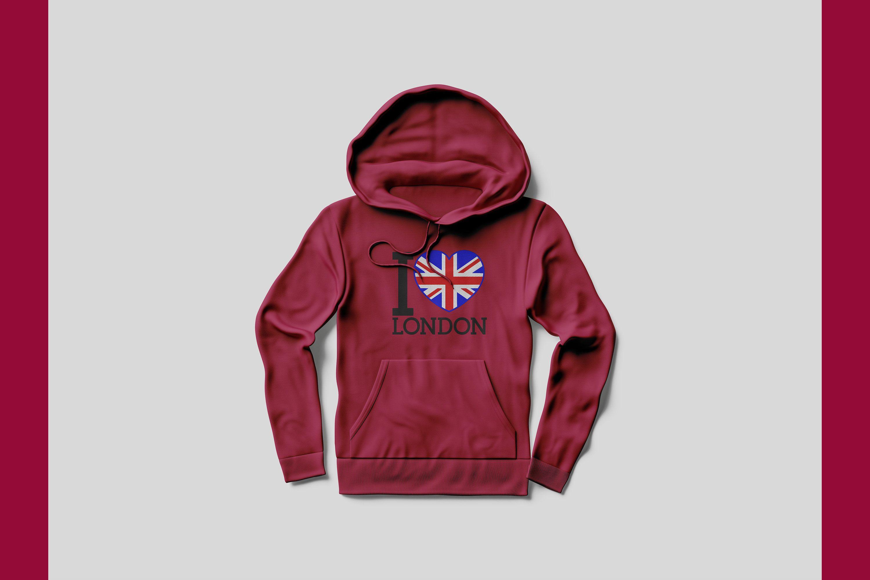 Download I Love London Embroidery Etsy Clothing Mockup Hoodie Mockup Shirt Mockup