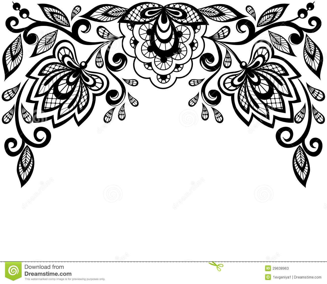 Leaves Clip Art Black And White Border Clipart Panda