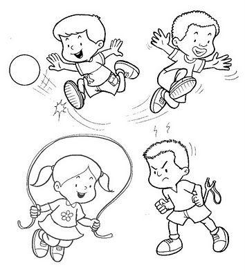 Dibujos De Juegos Infantiles Pesquisa Google Con Imagenes