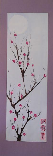 Cherry Blossom Paintings Cherry Blossom Painting Cherry Blossom Art Japanese Art