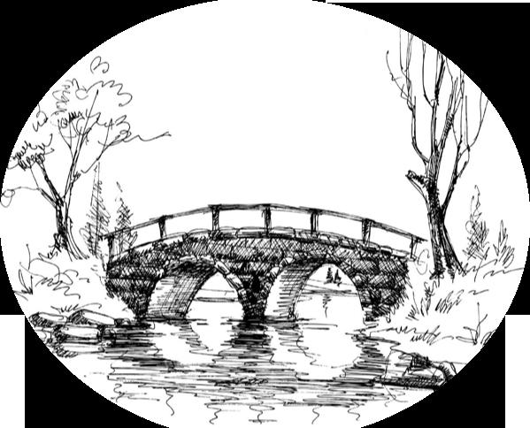 Contact Us Crossing Bridge Inspired Landscape Sketch Landscape Drawings Landscape Drawing Easy