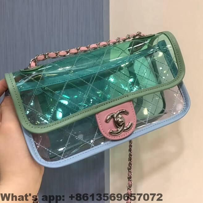 8d4cbd5f145a Chanel PVC Coco Splash Mini Flap Bag A57048 2018 | Chanel | Bags ...