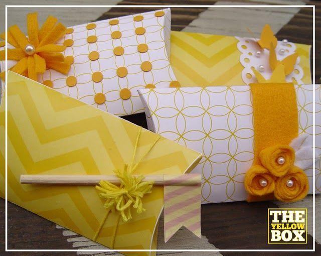 Yellow Pillow Boxes