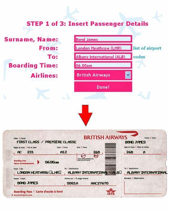 Fake Ticket Generator : ticket, generator, Airline, Ticket, Generator:, Ticket-O-Matic, Printables:, Plane, Tickets,, Generator,