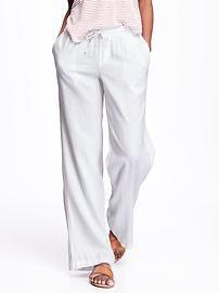 Wide-Leg Linen Pants for Women