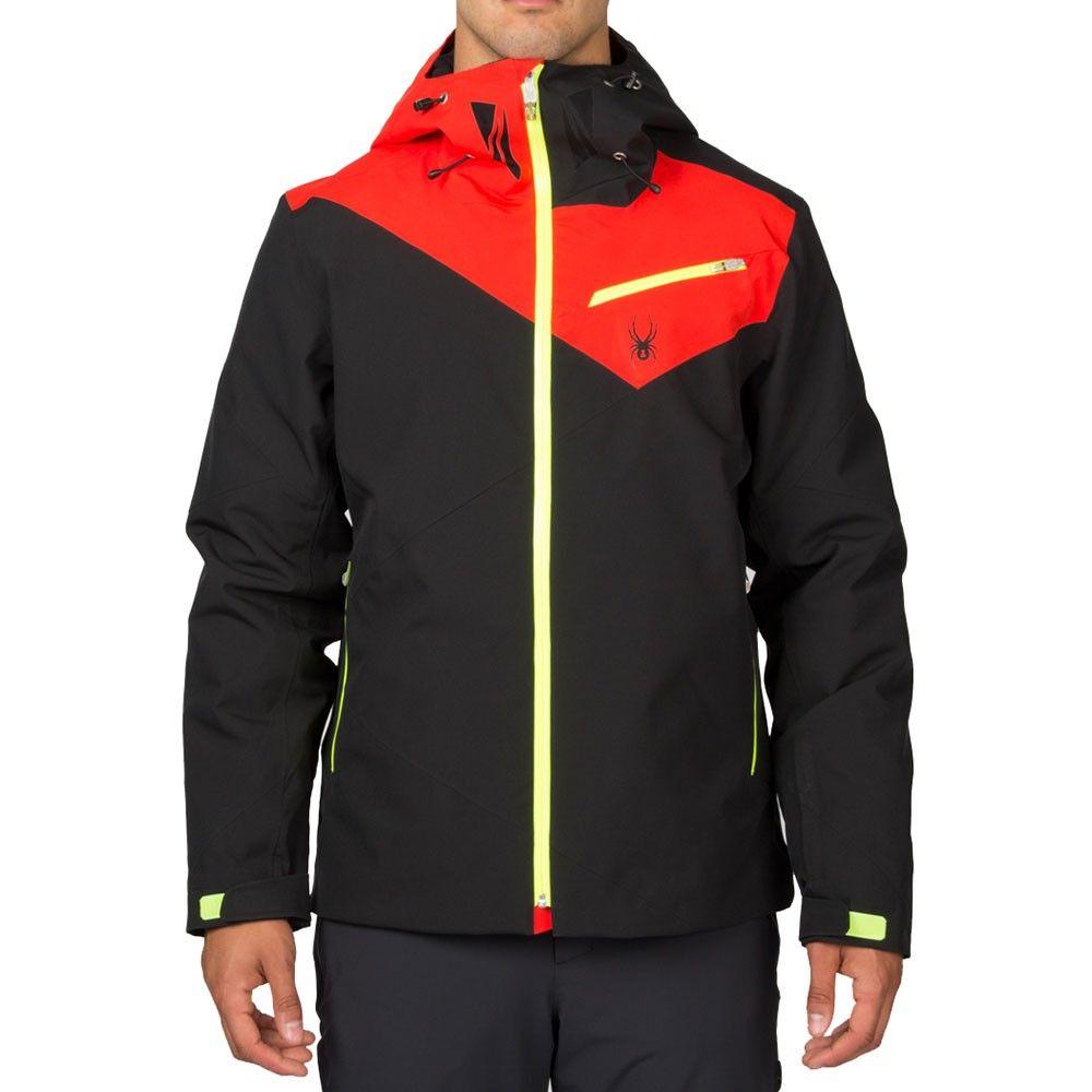 2ca466eb1a7457 Spyder Enforcer Jacket Herren Skijacke schwarz rot grün  spyder   skibekleidung  outlet  sporthausmarquardt