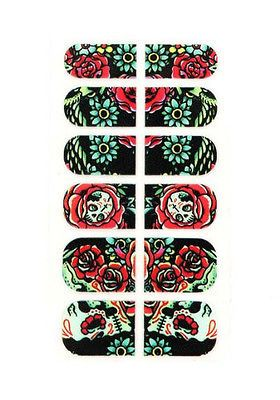 IRON FIST HOOTERS NAIL ART SKULLS ZERO DRY TIME FITS ALL NAILS ADHESIVE STICKERS