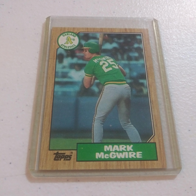 1987 mark mcgwire crash brothers topps 366 baseball