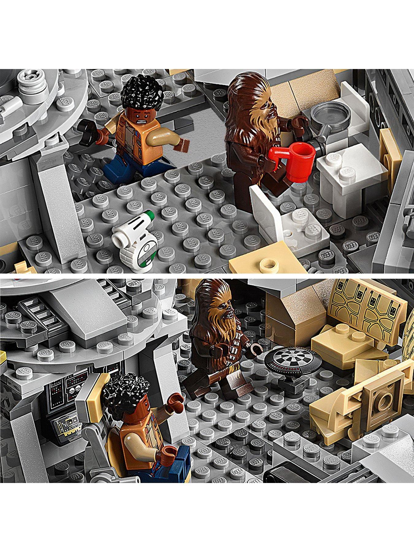 Lego Star Wars 75257 Millennium Falcon Starship With 7 Characters One Colour Lego Star Wars Lego Star Millennium Falcon