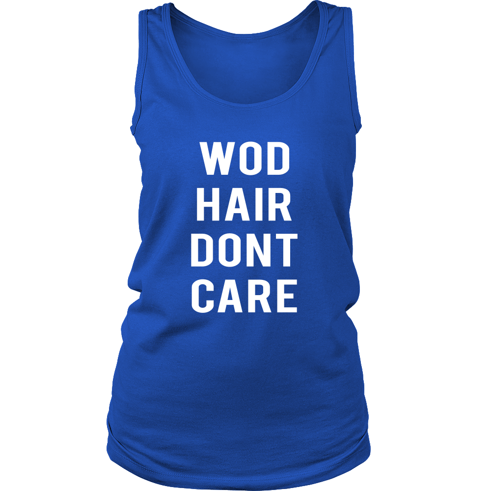 Kettlebell University T Shirt: WOD Hair Don't Care - Crossfit Tank