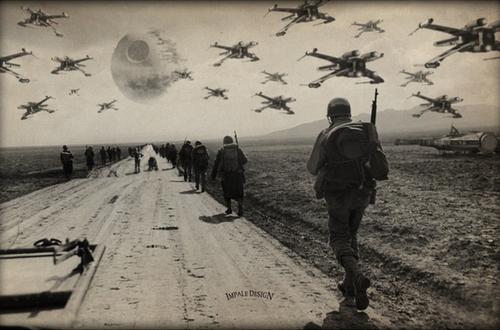Artist Injects STAR WARS into World War II Photos