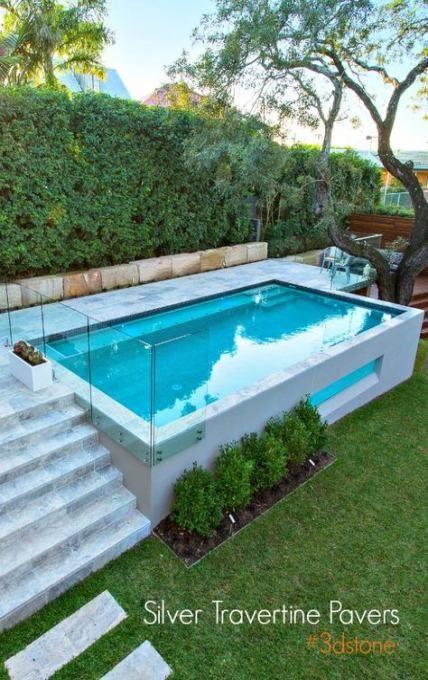 Landscaping Backyard Slope Ideas 45 Trendy Ideas Pool Houses Small Pool Design Small Backyard Pools