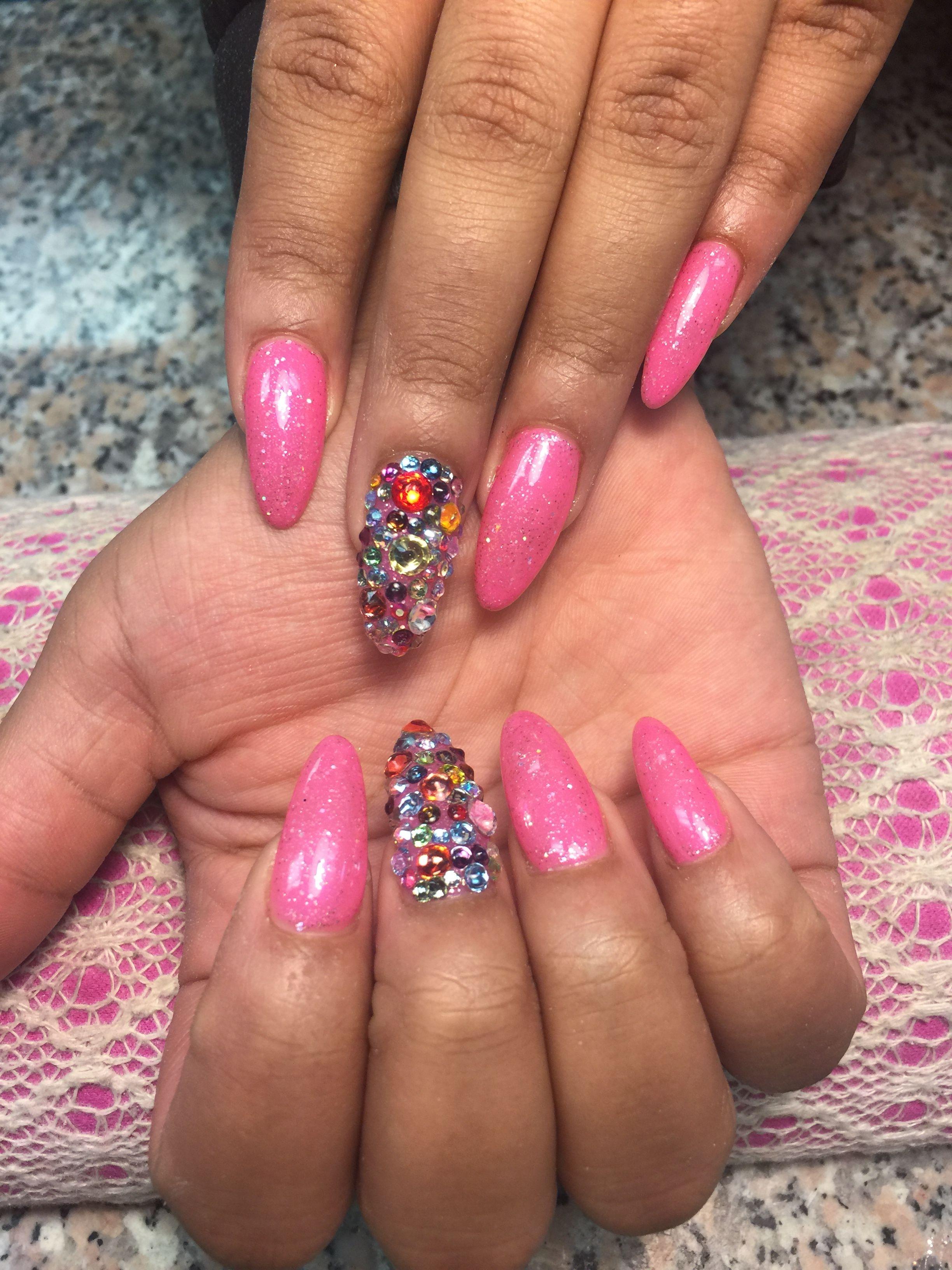 Pin by New 90\'s Nail Salon Shelton CT on Rhinestones nails ...