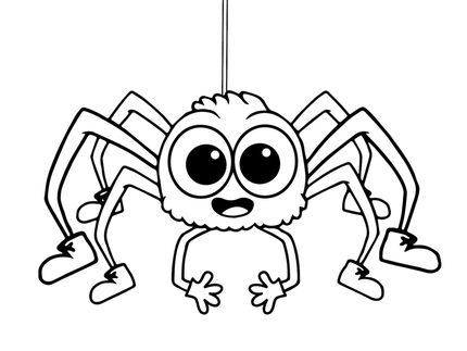 Printable spider coloring pages online for kids BURDA BORBOLETINHA